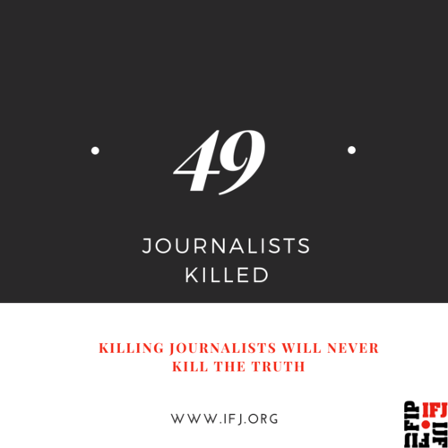 IFJ Marks Human Rights Day by Highlighting 49 Killings of Journalists Worldwide